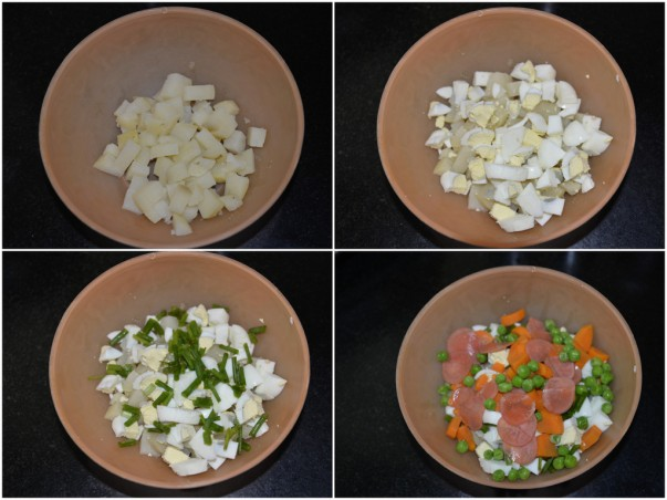 Russian Potato Salad - step by step