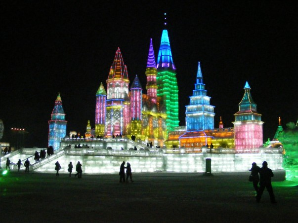 Snow and Ice World festival in Harbin