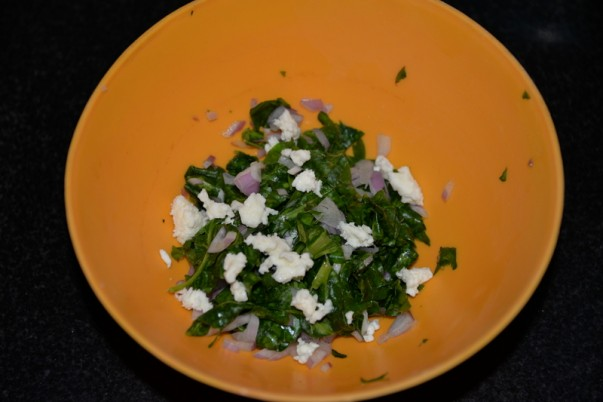Spinach And Feta Fatayer Filling