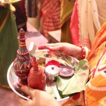 Vermillion, sweets and betel leaves- all to bid farewell