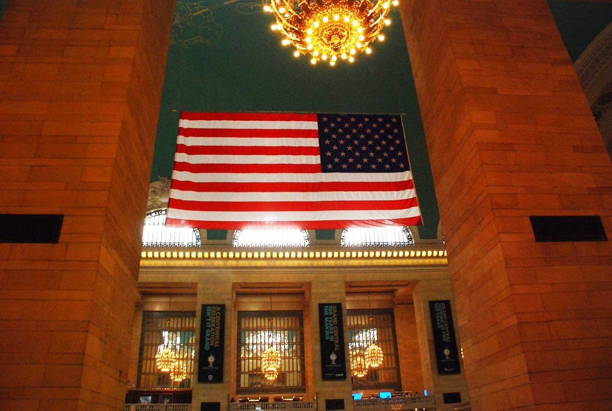 American Flag in Grand Central Terminal