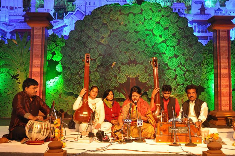 An Indian classical music performace