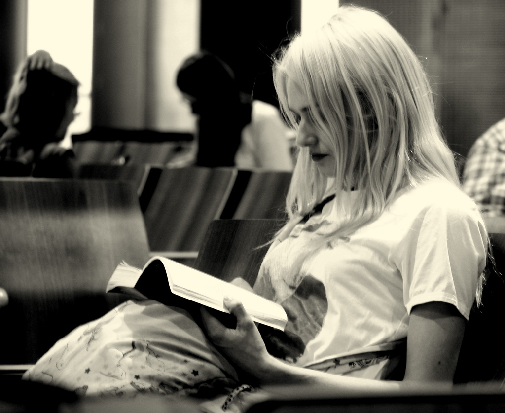 The Bookworm : You'll spot her reading her favorite book