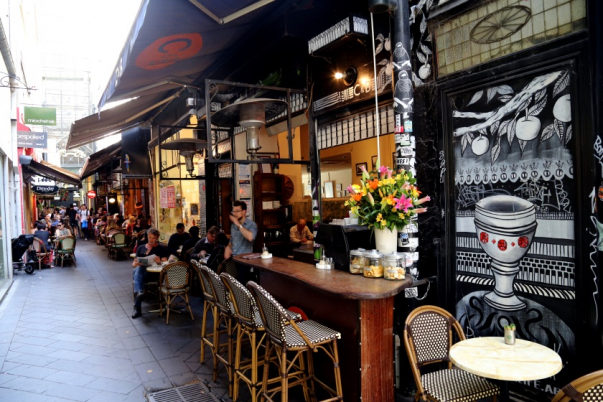 Cafes and bars at Block Place