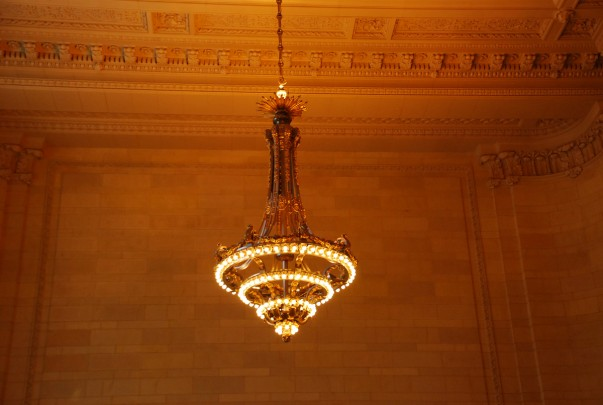 Chandelier and the Roof - Grand Central New York