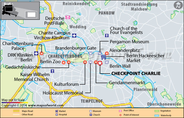 Checkpoint Charlie Location Map