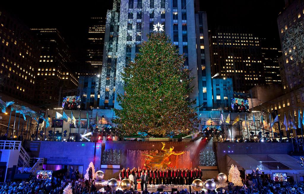 Christmas Tree Lighting at Rockefeller Center in New York