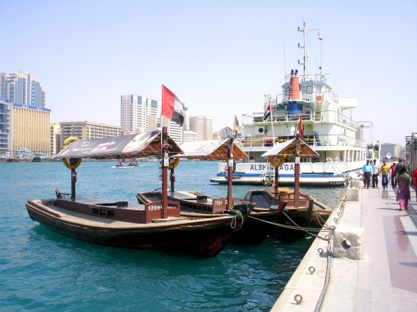 Abras (small ferry boats) at the Bur Dubai creek area