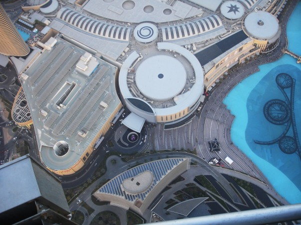 Bird's eye view of Dubai Mall as seen from Burj Khalifa