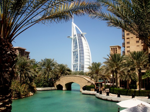 Burj Al-Arab as seen from Jumeirah Madinat