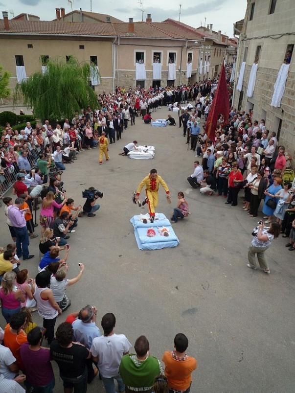 Celebration of El Colacho Festiva in Spain