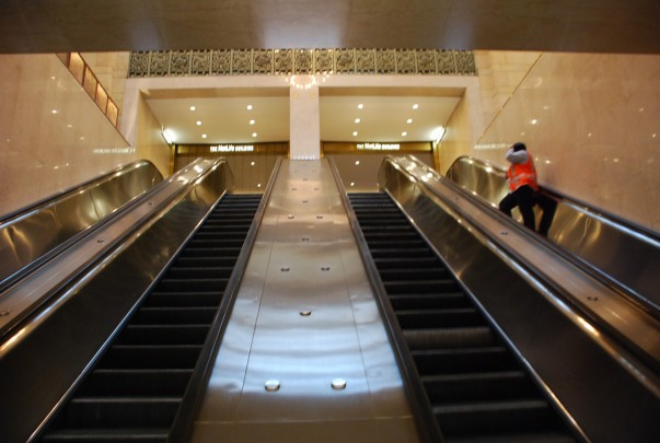 Escalators to MetLife Building