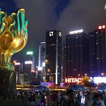 Golden Bauhinia Square located at the forefront of HKCEC
