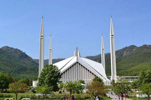 Faisal Mosque at Islamabad, Pakistan