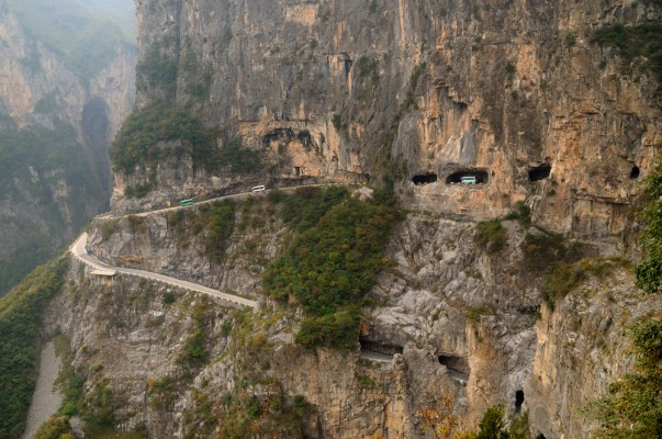 Guoliang Tunnel Road in China