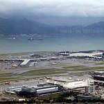 Bird's eye view of Hong Kong International Airport