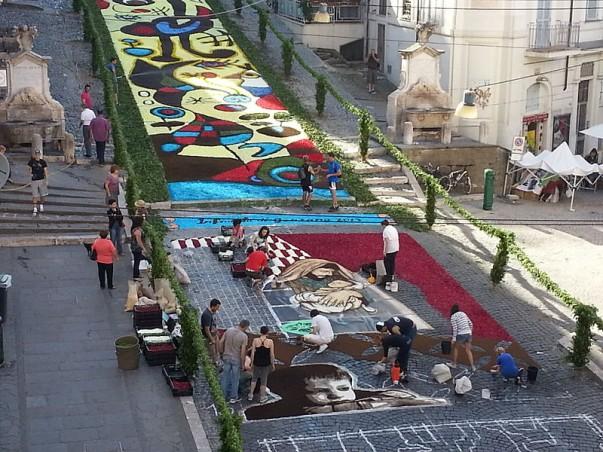 Witness the colorful festival of Infiorata di Genzano.