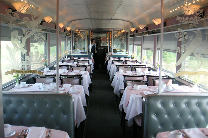 Interiors of the vintage train image