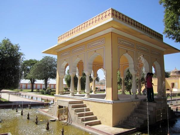 Landscaped Gardens inside the Kanak Vrindavan Garden complex