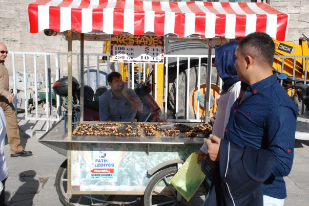 Roasted Chestnut Sellers in Istanbul