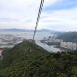 Scenic views of sea and mountains from the Cable Car
