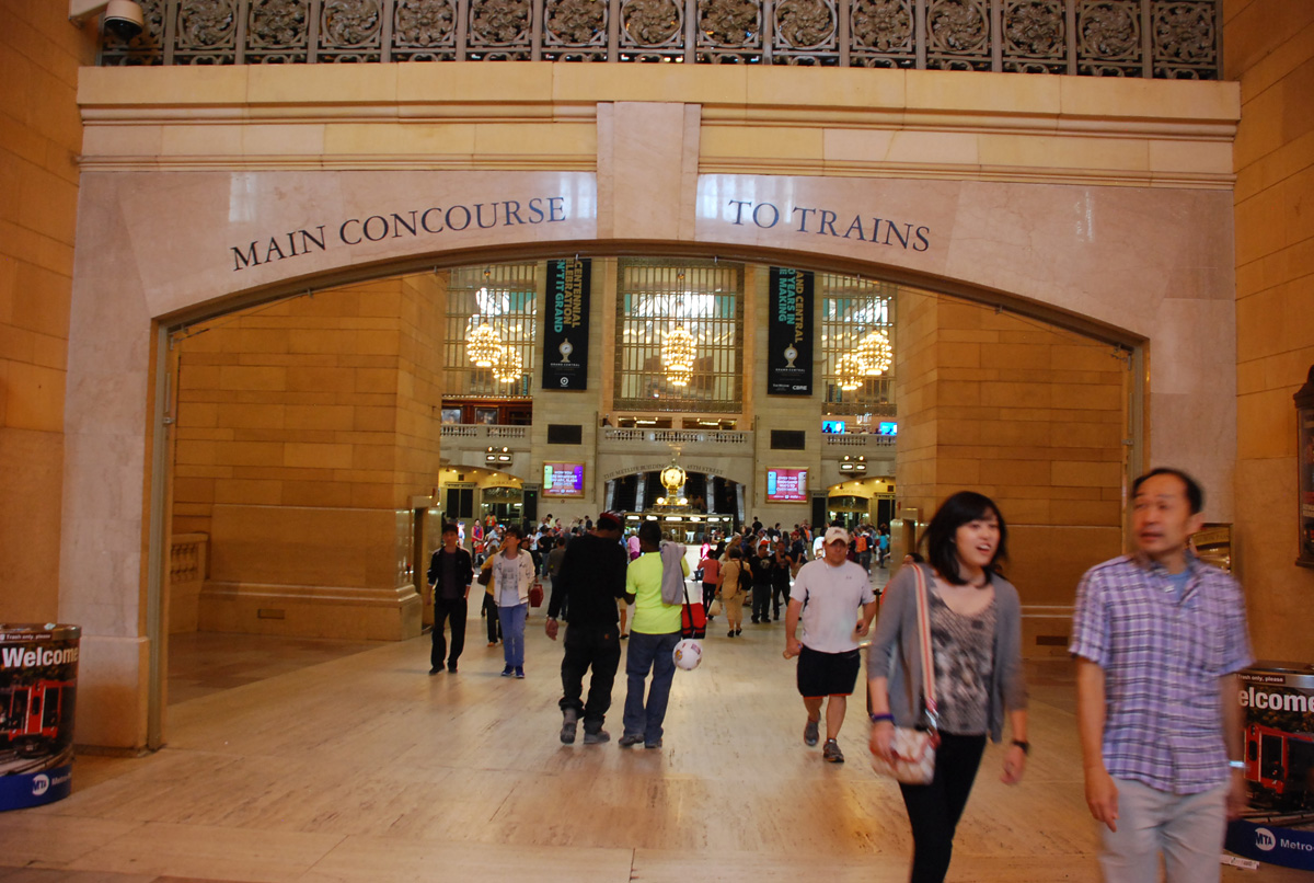 Main Concourse to Trains - GCT