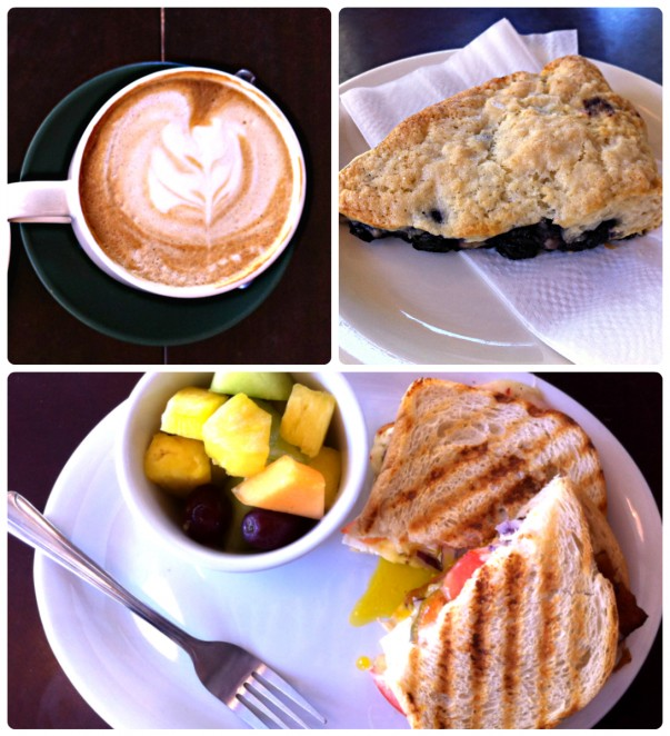Coffee & other food options at Mission Coffee, Fremont, CA