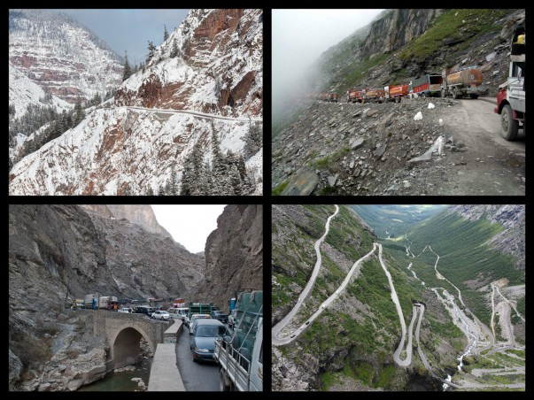 Some more Dangerous Roads in The World - Million Dollar Highway, Trollstigen Road, Rohtang Pass, and Kabul-Jalalabad Highway.