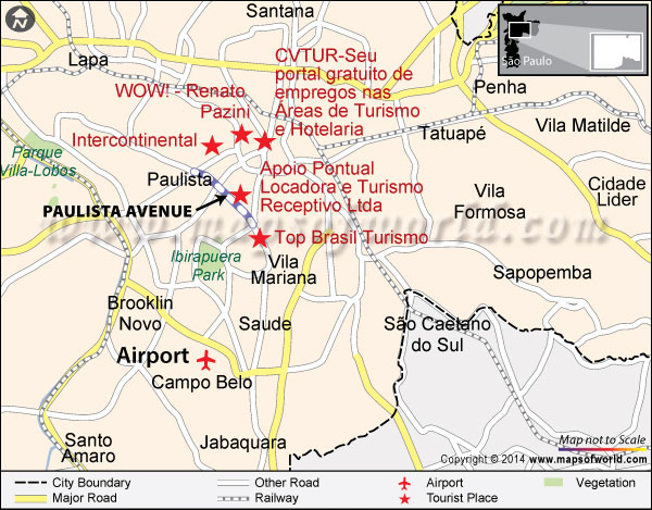 Location Map of Paulista Avenue