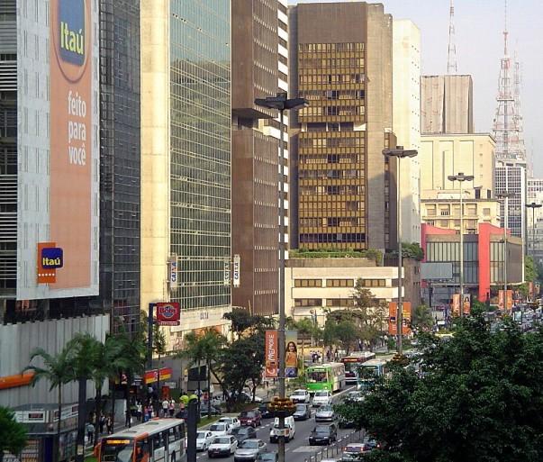 Paulista Avenue at São Paulo, Brazil
