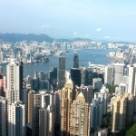 Hong Kong island and Kowloon view from Victoria Peak