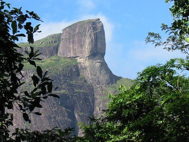 The rock face of Pedra da Gavea