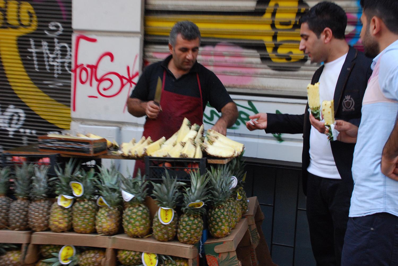 Pineapple Slice Sellers - Istanbul
