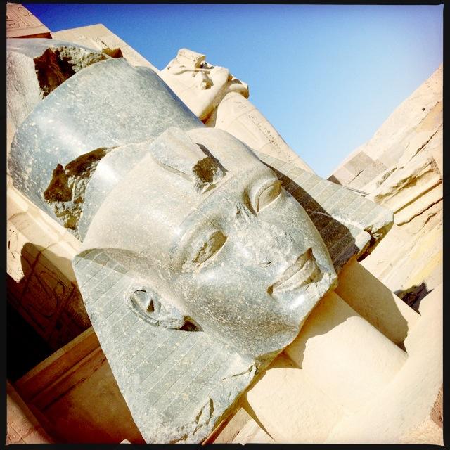Ramses Head At Ramesseum