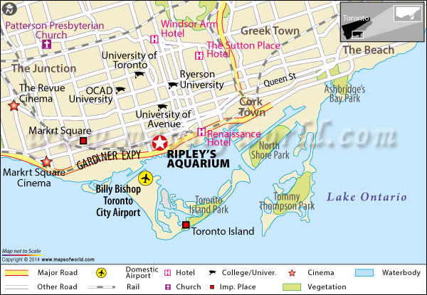 Location Map of Ripley's Aquarium