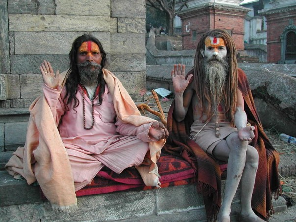 Sadhus at Pashupatinath Temple, Kathmandu