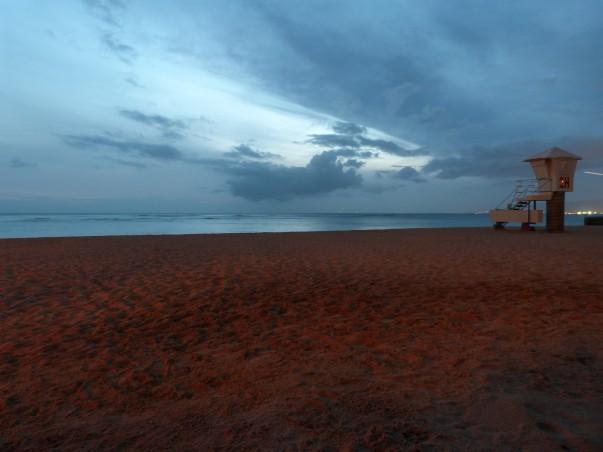 Sans Souci Beach in the Evening, Waikiki