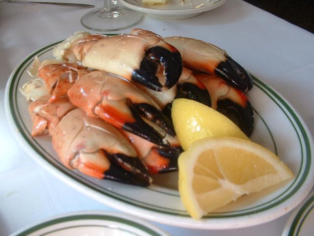 Don't miss eating a Stone crab at Joe's.