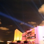 Laser Light and sound show at Hong Kong Culture Centre