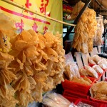 Tai O fishing Village dried sea food shops