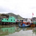 Tai O Fishing Village Stilt houses built over a river