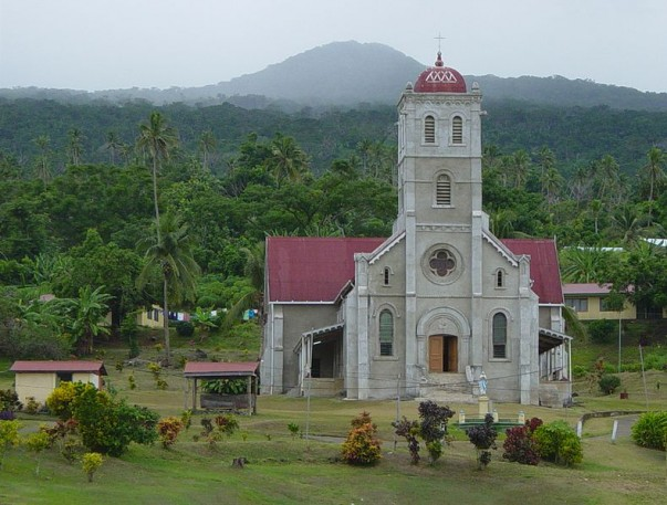 Wairiki misión en Taveuni Island, Fiji