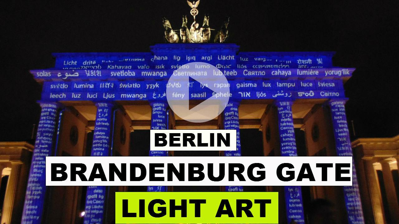 Brandenburg Gate Festival of Lights [VIDEO]