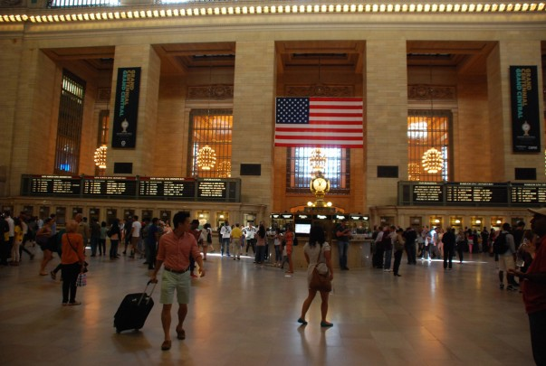View inside the Main Concourse - Grand Central New York