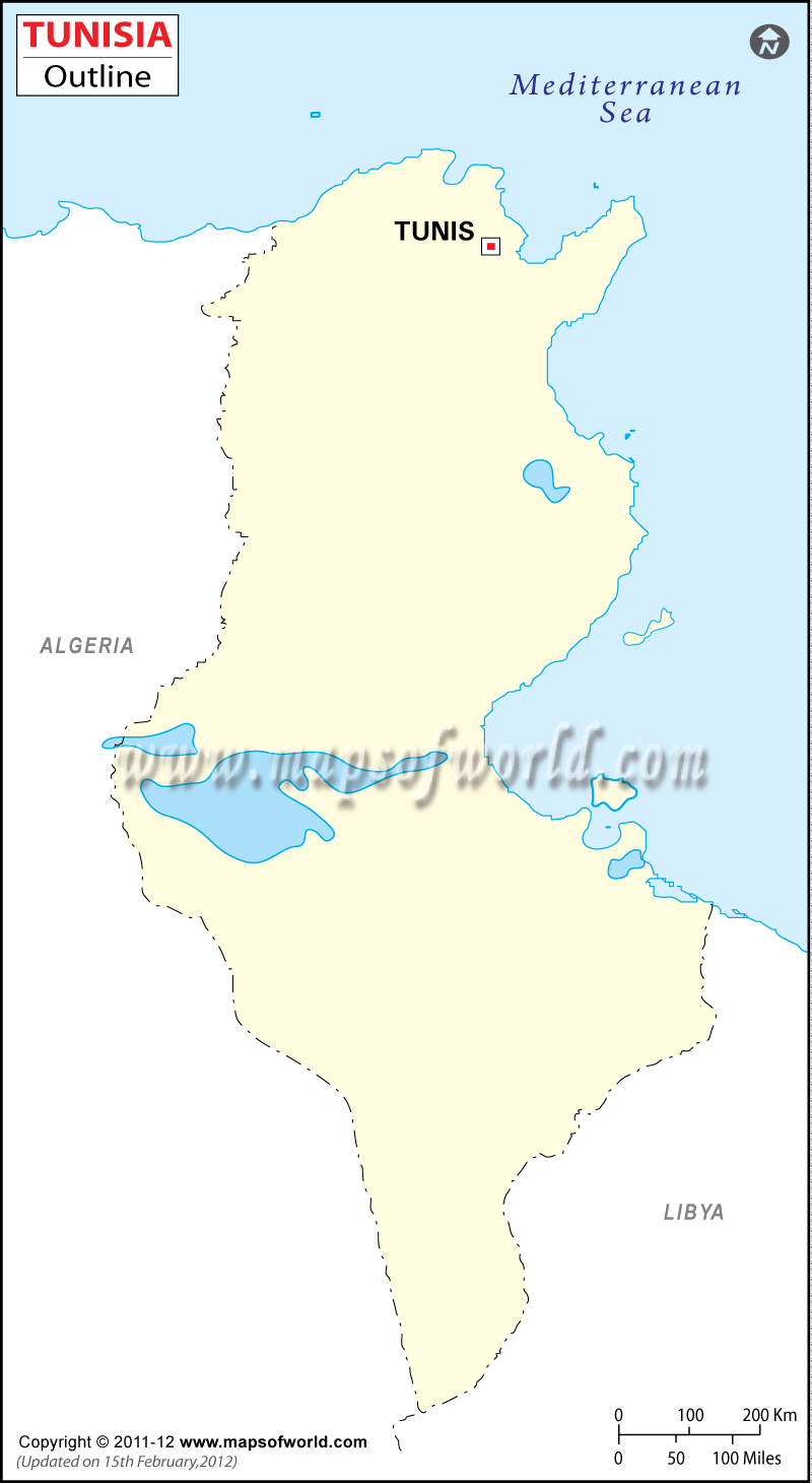 Tunisia Time Zone Map