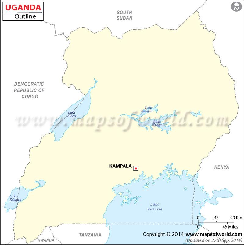 Outline Map of Uganda