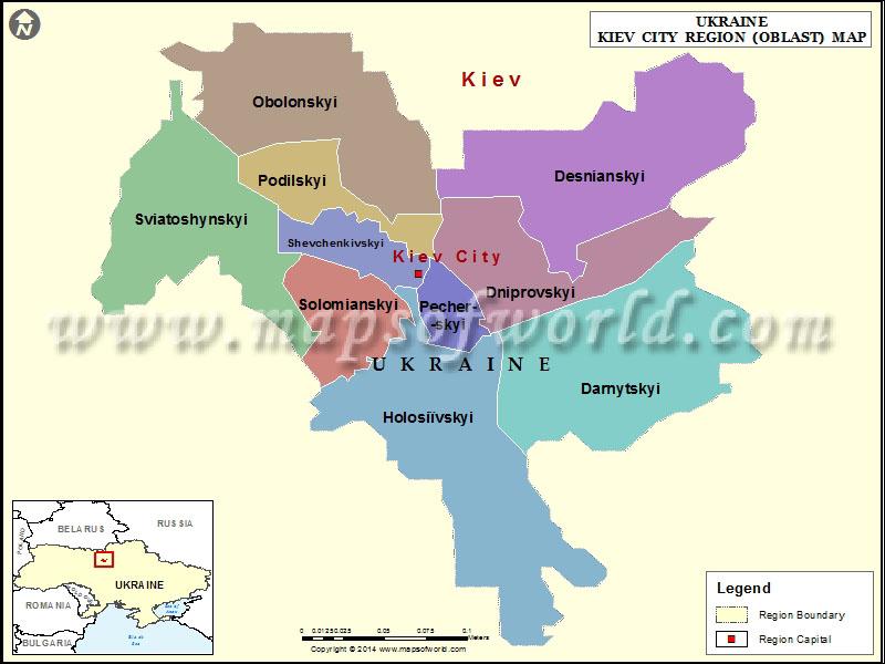 Kiev City Region Map