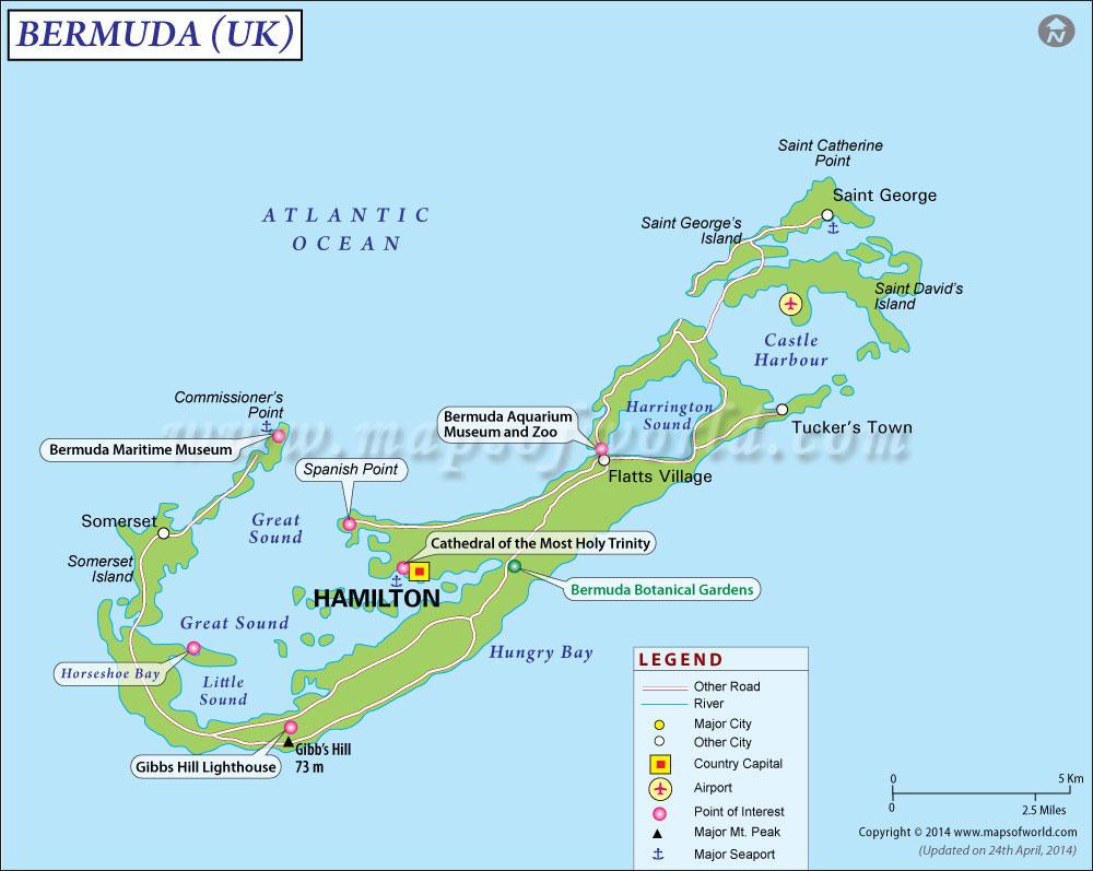 Bermuda Tourist Attractions Travel Destinations in Bermuda – Bermuda Tourist Map