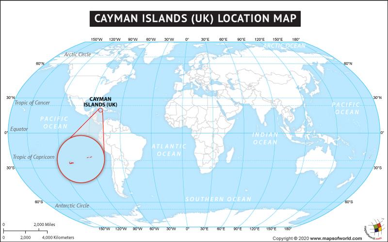 Location Map of Cayman Islands