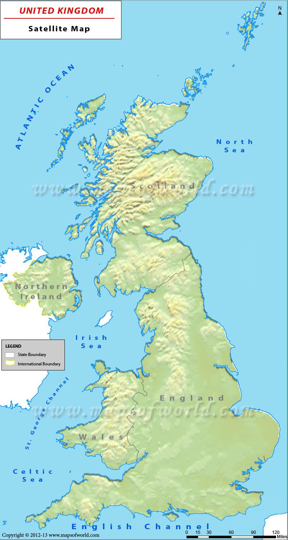 Geography Map Of England.Uk Satellite Map Satellite Map Of United Kingdom
